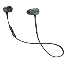 BX343 Bluetooth Earphone Waterproof Magnetic Headset with Mic Stereo Earphones black