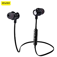 Awei A980BL Wireless Sports Bluetooth 4.0 Noise Isolation Earphones with Handsfree Songs Track Function-BLACK