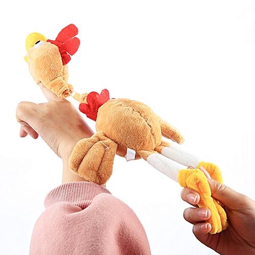 Slingshot Flingshot Flying Screaming Chicken Plush Toy