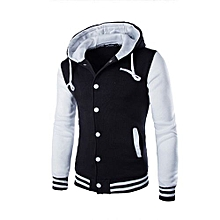Men Coat Jacket Outwear Sweater Winter Slim Hoodie Warm Hooded Sweatshirt WH/L