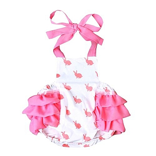 590cfa7b705 Eissely Baby Girls Summer Bunny Rompers Toddler Infant Jumpsuit Clothes  Sunsuit Outfits