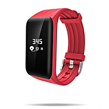 """DB-04 - 0.66"""" Smart Bracelet For Android/IOS 105mAh Waterproof Pedometer - Red"""
