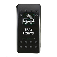 Fovibery ATV RV Marine Boat Rocker Switch LED Backlit Fog Spot Driving Rear Light Bar J