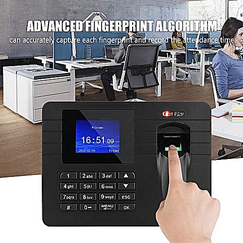 2 4in Fingerprint Time Clock TFT LCD Screen Fingerprint Time Clock Recorder  Employee Attendance Machine 100-240V EU Plus