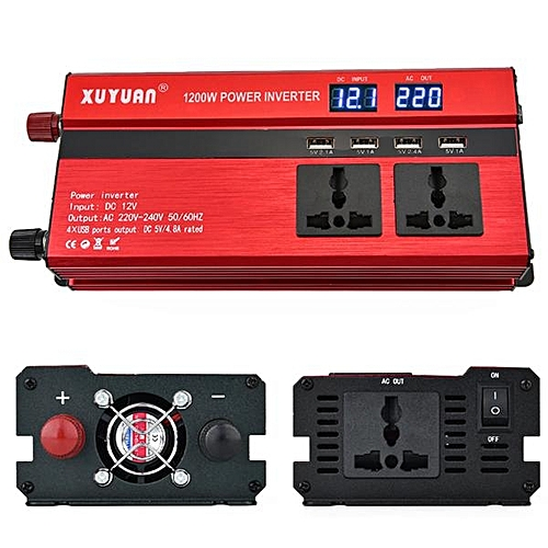 XUYUAN LED 1200W Power Inverter with Screen 24 - 220V