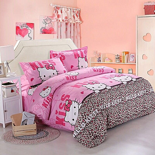 Home 1.5M Bed Supplies Printing Four Piece Set Quilt Cover Bed Sheet Pillow