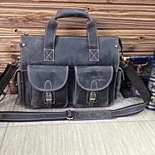 Vintage Men Leather Office Laptop Bag