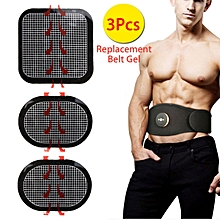 3pcs Replacement Gel Pads Massager Patch For Abs Stimulator Trainer Muscles Training EMS Massage Waist Toning Belt Accessories