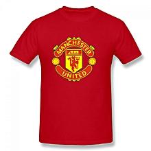 Manchester United Men's Cotton Short Sleeve Print T-shirt Red