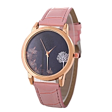 Africanmall store Women Quartz Analog Wrist Dial Delicate Watch Luxury Watches -Pink