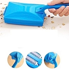 Elegant portable Carpet Brush with dirt collector - Blue