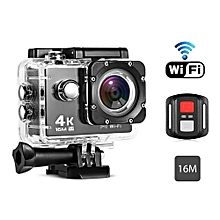 Remote Control 4K Waterproof Action Camera For Sports-BLACK