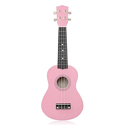Generic 21 inch 12 Fret Pink Acoustic Maple wood Ukulele Musical Instrument 54x17x5.5cm Ukulele Four-string Small Guitar