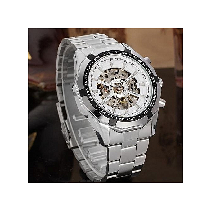 18fc2cc3349 Winner Brand Luxury Sport Watch Mens Automatic Skeleton Mechanical  Wristwatches Fashion Casual Stainless Steel Relogio Masculino