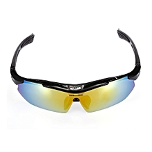10pcs Windproof Cycling Glasses With Polarized PC Lens - Black