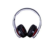 Black Headphones - Bluetooth/FM/SD BLACK -RED