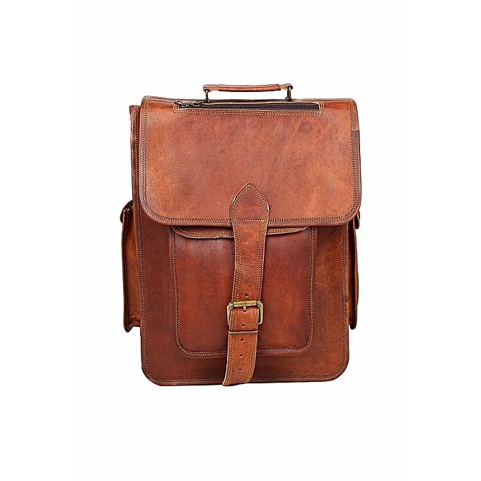 Vintage Handmade Leather Messenger Bag For Laptop Briefcase Satchel