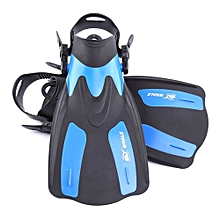 Adult Short Snorkeling Swim Fins Flippers With Adjustable Heel Water Sports