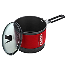 Alocs CW-S10 1.4L 1-2 Person Fast Heating Pot Camping Picnic Jacketed Kettle Cookware