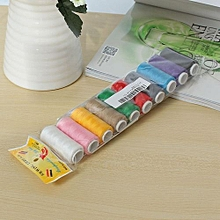 New A Set Colorful 10 Pcs 200 Yards Sewing Thread Spolyester Thread Strong And Durable Sewing For Hand Machines