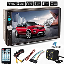 7'' Bluetooth 2Din Car MP5 MP3 Player Stereo Radio HD +Camera/Screw/Power Cables