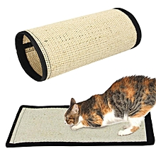 40*30cm Pet Cat Kitten Scratching Mat Pad Board Sisal Scratcher Wrap Pole Toy