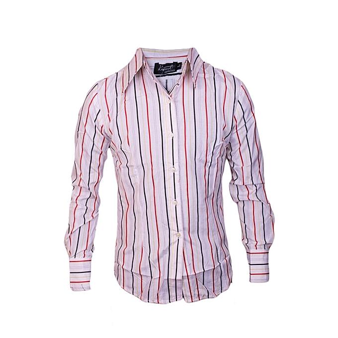 897b1ab362fa Kivenst Fashion Long Sleeve striped(white