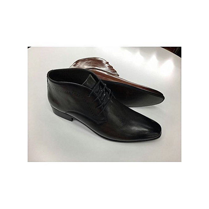 450641c9893 Cacatua Black Men Boots Shoes (formal and casual) rubber sole   Best ...