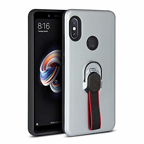 cheap for discount ea635 c017b Phone Case For Xiaomi Redmi Note 5 Pro , Luxury Magnetic Armor Silicone  Case Cover Metal Ring Hard Case Phone Casing For Xiaomi Redmi Note 5 Pro