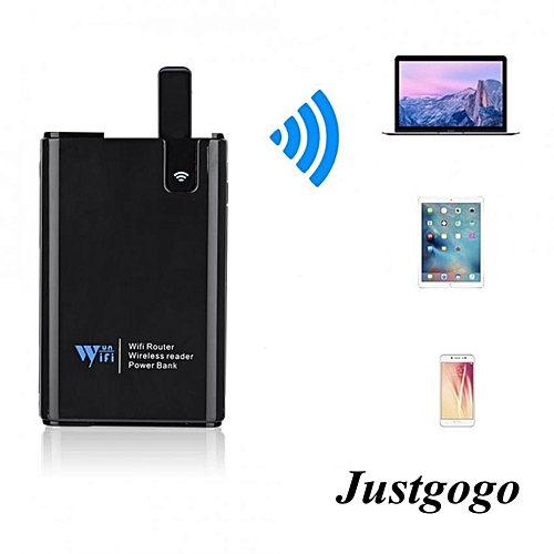 300Mbs Wifi Extender Router With Wireless Reader For TF / M2 / SD / MS / CF Card (Black)