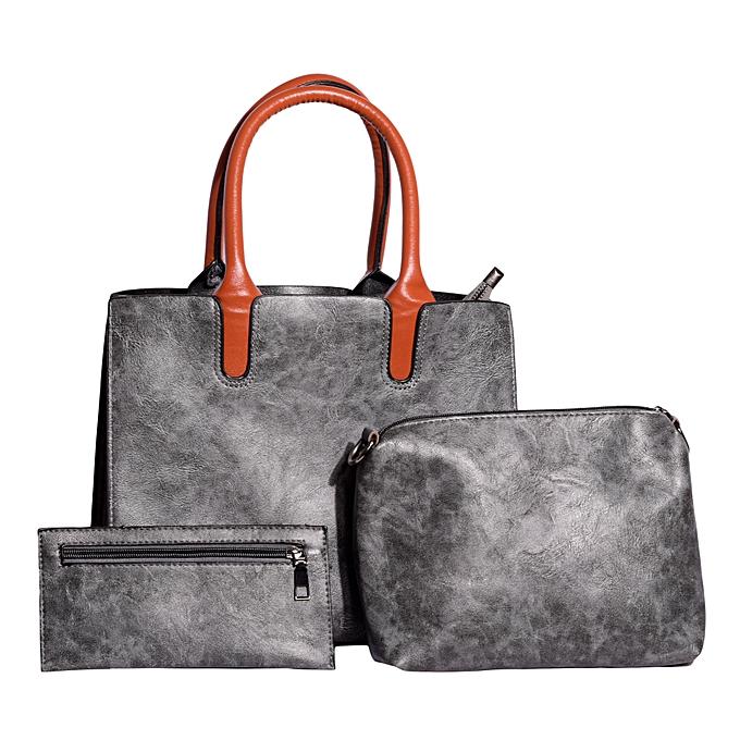 193e383bcf55 Generic Ladies Handbag 3 in 1 -Grey   Best Price