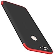 GKK for   Huawei Nova 2 Three - paragraph Shield Full Coverage Protective Case Back Cover ( Black + Red )