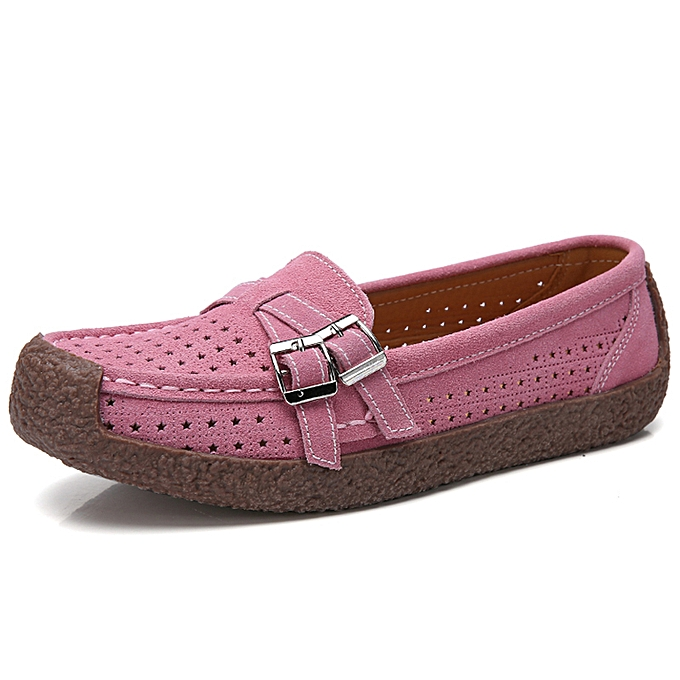 db2615dbed538 EUR Size 35-41 High Quality Flats Women Suede Leather Flats Shoes Handmade  Comfort Loafers Pink