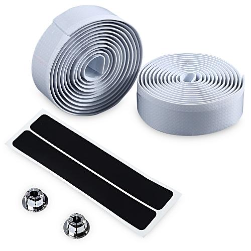 Cycling Road Bike Handlebar Tape Bar Plug Belt Strap - White