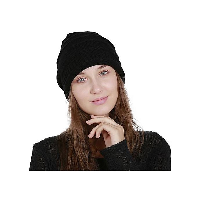 60f3c2672658b Wenrenmok Store Men s Women s Knit Baggy Beanie Solid Fashion Winter Hat  Ski Slouchy Chic Cap-
