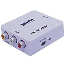 Mini Composite  AV to HDMI Converter For VCR DVD 720P 1080-white