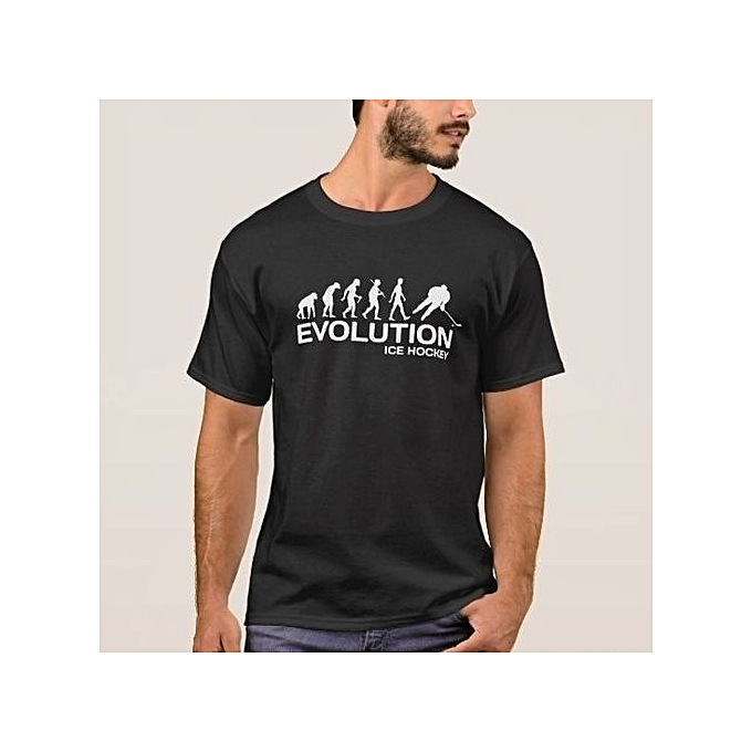 04ec2e109b5a ... Evolution Funny T-shirt Mens European Size S-XXXL · Men s Fashion Cotton  Tshirt Summer Short Sleeve Printing (S-3XL) Ice Hockey Player
