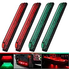 4Pcs 8'' Green & Red Sidelight Navigation Light Car Truck RV Boat Lamp Strip DC12V
