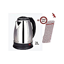 Kettle (Electric Cordless) 2 Litres + a FREE Kitchen Towel