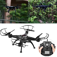 New 2.4Ghz RC Quadcopter Drone WiFi Remote Control Real Time Video With Camera (Black)