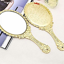 HD Handle Makeup Mirror Retro Style Korean Beauty Makeup Mirror European Style Portable Mirror Princess Hand Mirror