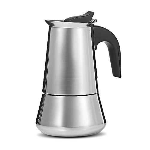 Stainless Steel Coffee Pot Stovetop Espresso Maker Silver