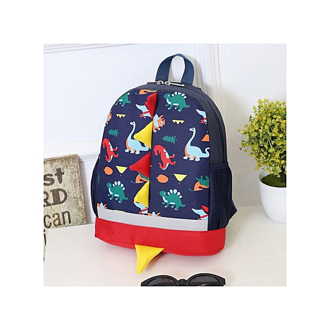 Xingbiaocao Baby Boys Girls Kids Dinosaur Pattern Animals Backpack Toddler  School Bag -Dark Blue ... ac69d1ef3be47