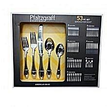 53pcs - Pfaltzgraff Cutlery Set - Chrome Plated
