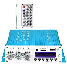 Kentiger V10 Bluetooth Hi-Fi Class-AB Audio Power Amplifier-BLUE