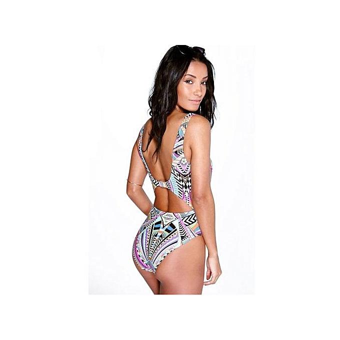 c277e02e4132e Xingbiaocao Womens Printing Bathing Suit Brazilian Bikini Swimwear S  -Multicolor