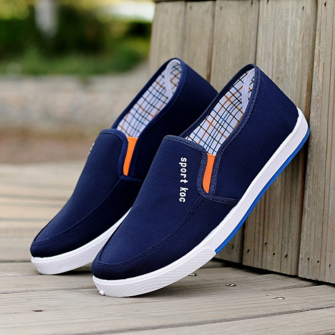 c88d21e3 High Quaity Canvas Shoes Men Tenis Mocassin Homme Black White Blue Mens  Shoes Casual Slip On