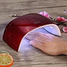 UV Nail Lamp 18W Led Gel Polish Curing Double Light Dryer Manicure Machine US Plug Red