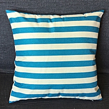 Africanmall store Stripe Print Sofa Bed Home Decoration Festival Pillow Case Cushion Cover-Sky Blue