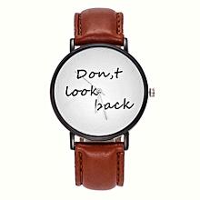 shioakp Women's Girls Fashion Watch Leather Strap Analog Quartz Glass Mirror Watches